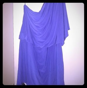 New Directions one shoulder purpl/periwinkle dress